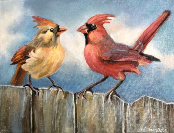 Love on the Fence by Nancy Johnson