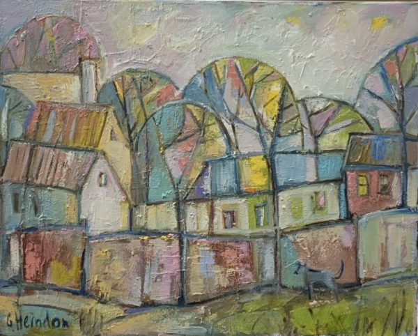 Pastel Houses by Galina Herndon