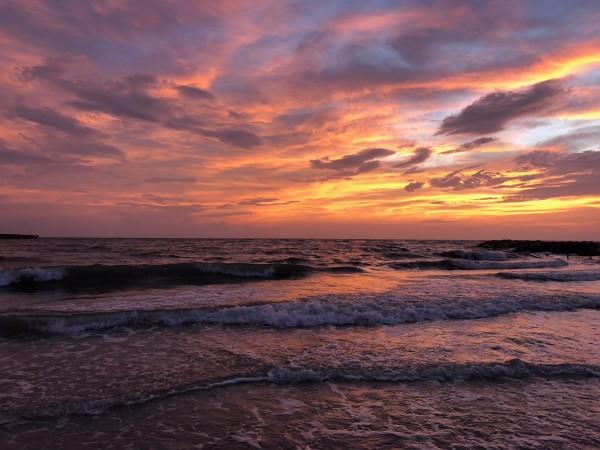 Florida Beach Sunset by Lee Ann Harrison
