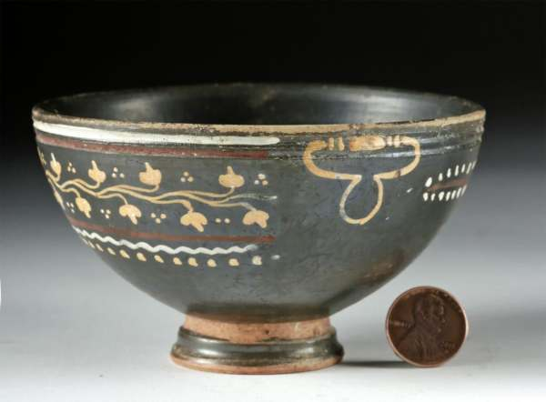 Gnathian Pottery Footed Bowl - Pinted Handles by Unknown