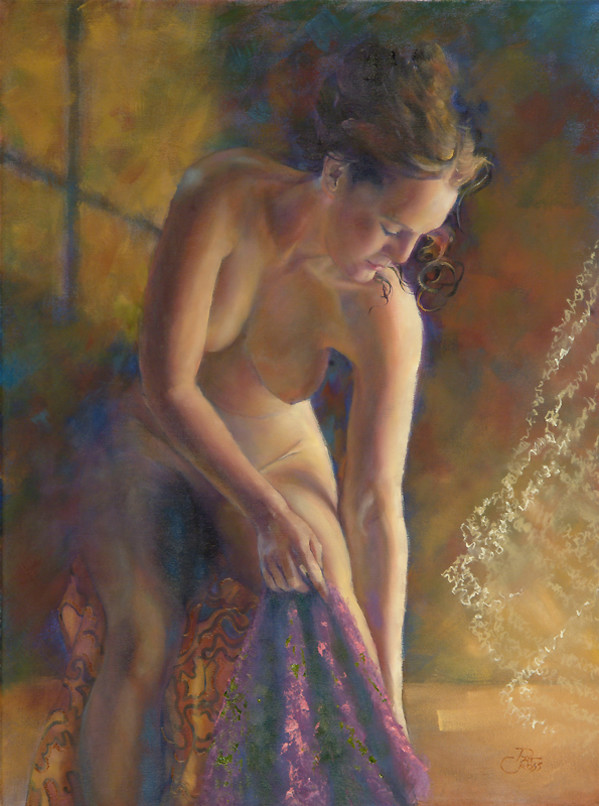 Evening Bath by Pat Cross