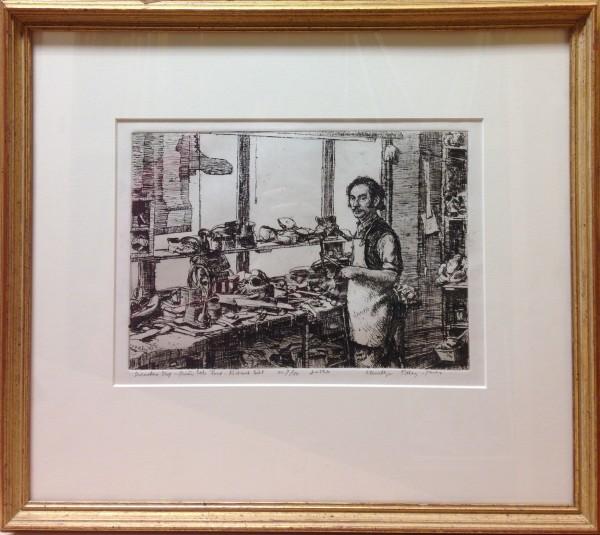 Shoemaker's Shop - Frairs Stile Road, Richmond Hill by Llewellyn Petley-Jones (1908-1986)