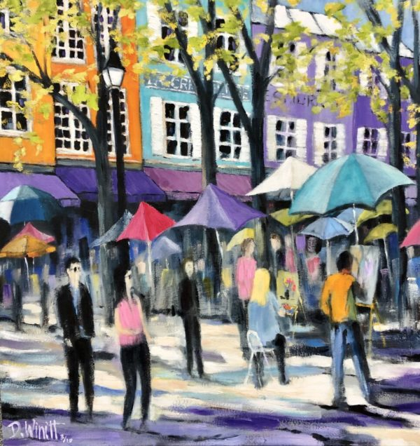 The Art Market in Montmartre by David Winnitt
