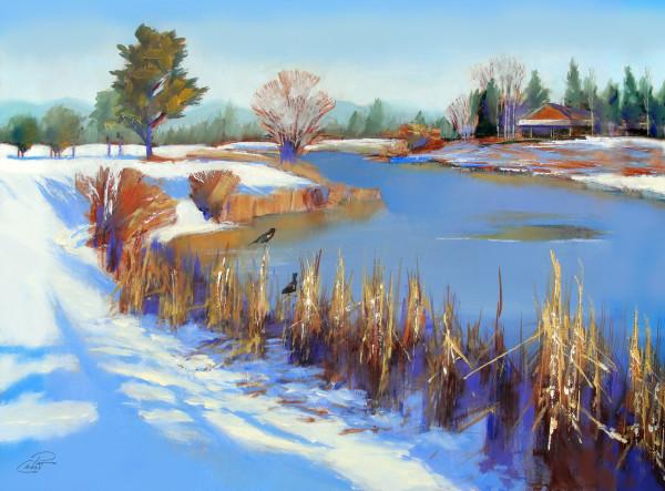 Hoarfrost on Sunriver by Pat Cross