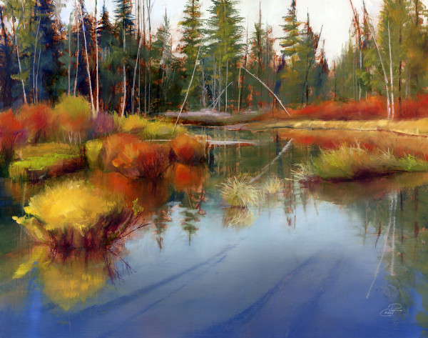 Fall River Study by Pat Cross