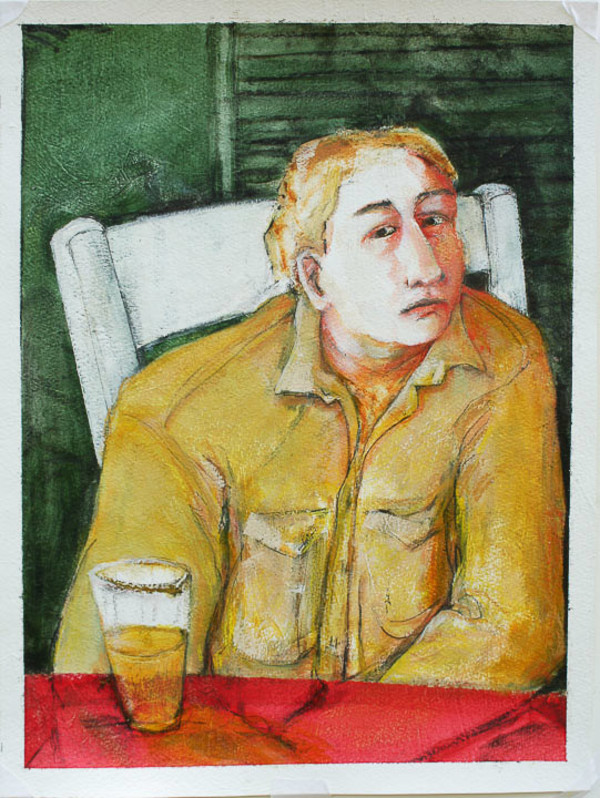 Man with a Beer by Eve Whitaker