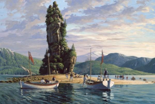 Meeting At The New Eddystone Rock by John Horton (FCA, CSMA)