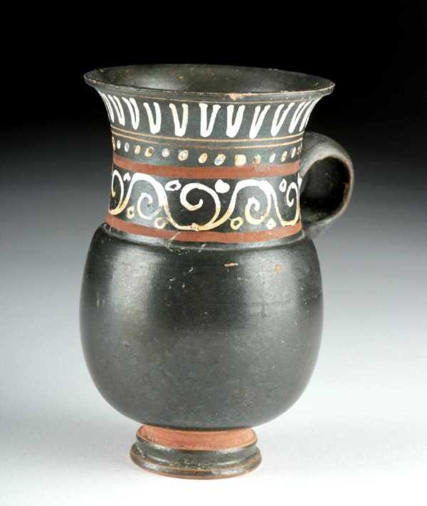 Greek Gnathian Pottery Thistle Mug by Unknown