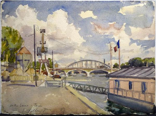 On the Seine, Paris by Llewellyn Petley-Jones (1908-1986)