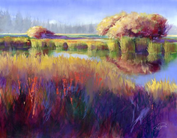 Autumn Sunriver Study by Pat Cross