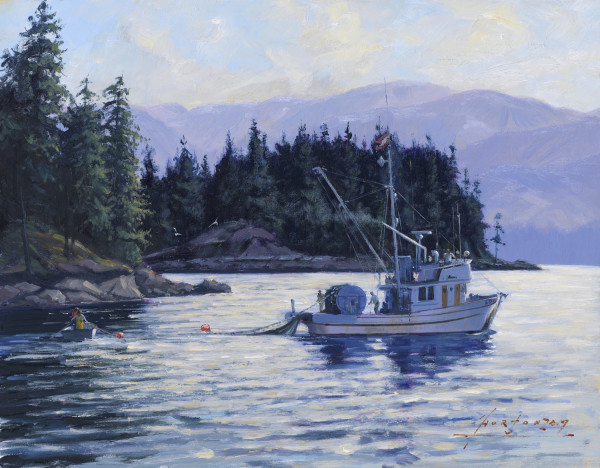 Laying out the Beach Seine by John Horton (C.S.M.A, F.C.A)