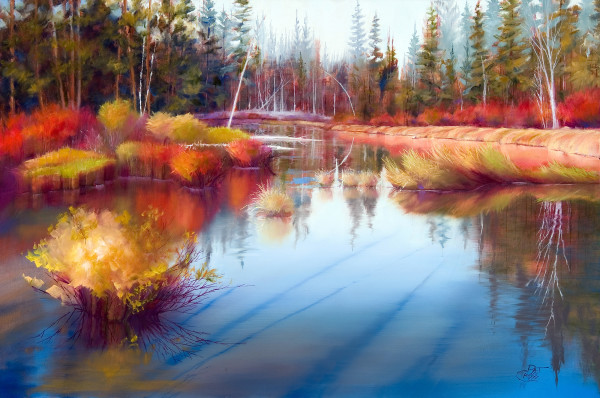 Autumn on Fall River by Pat Cross