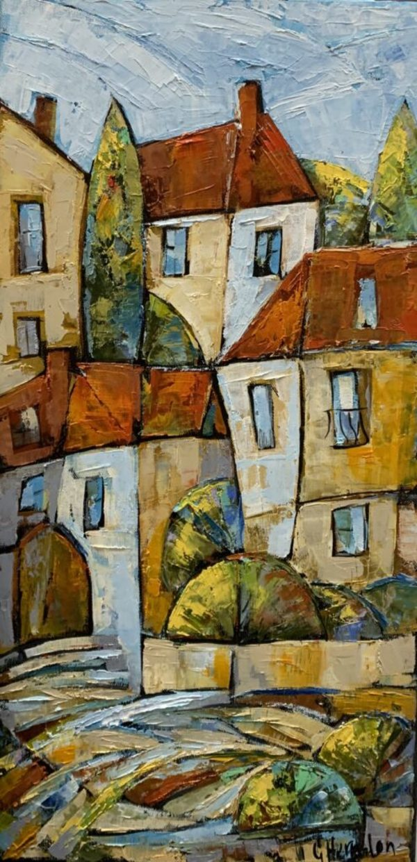 Rooftops 1 by Galina Herndon