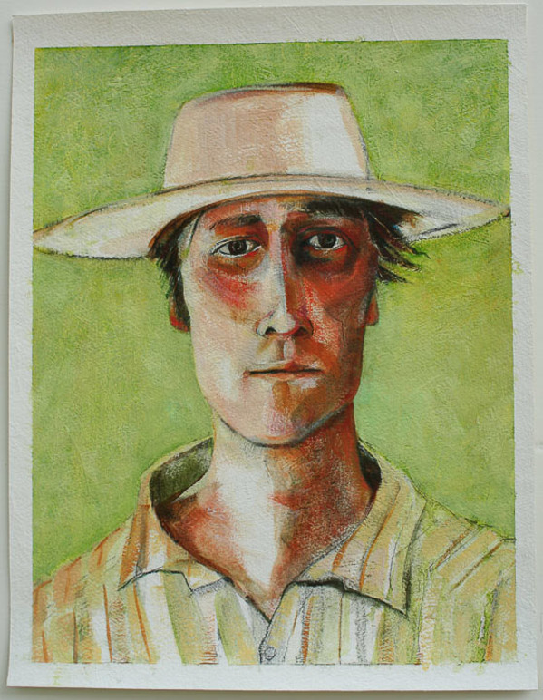 Man in Hat by Eve Whitaker