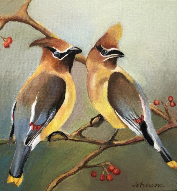 Cedar Waxwing II by Nancy Johnson