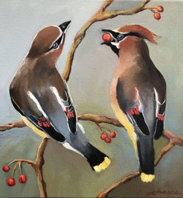 Cedar Waxwing I by Nancy Johnson