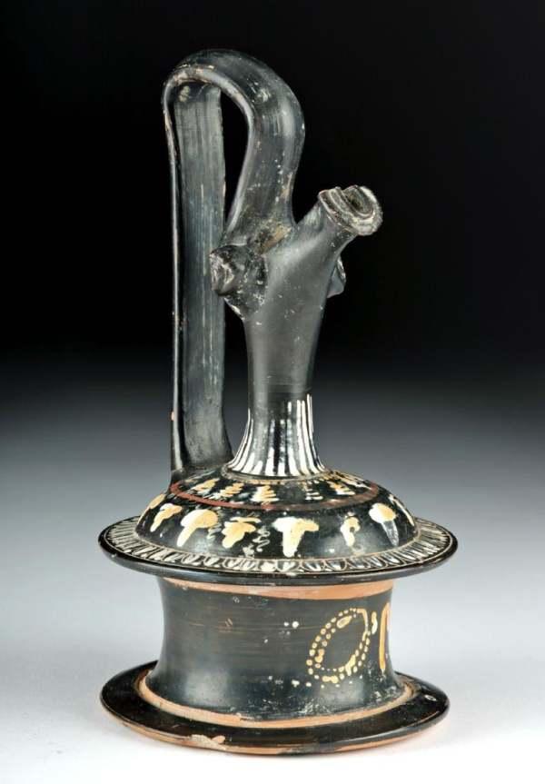 Greek Gnathian Pottery Epichysis by Unknown