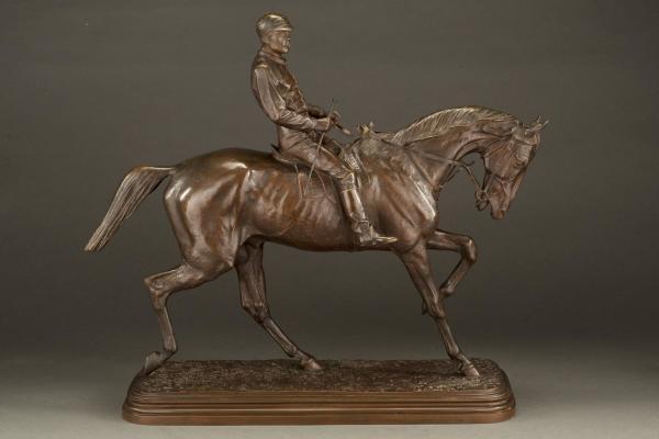 Horse & Jockey by Isidore Jules Bonheur
