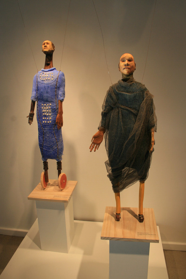 Large Creaking Cart Dolls (blue and gray) by Eve Whitaker