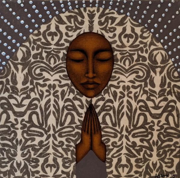 Prayer Painting by Tamara Adams