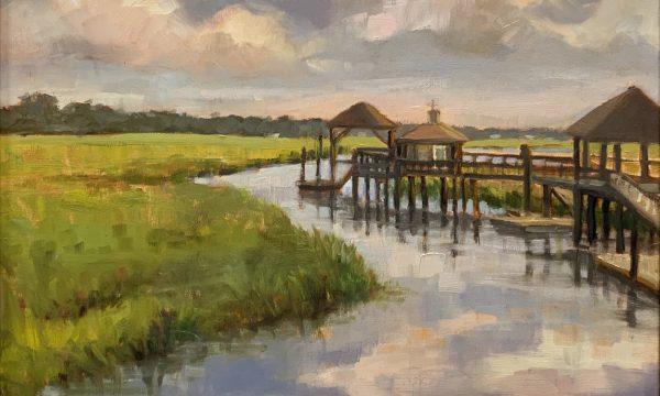 Docks on the Marsch by Julie Mann