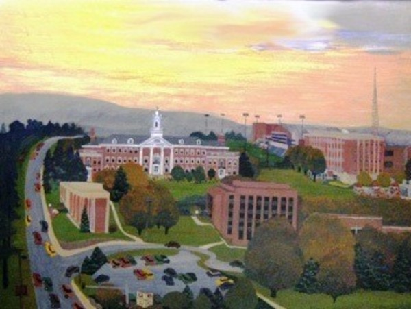 Fall Scene, UNO East Campus 2001 by Judith Welk