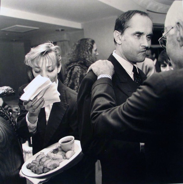 Sneer and Waitress, Los Angeles, Social Context by Larry Fink