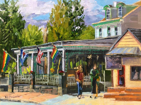 Havana Flags on Main Street by Elaine Lisle