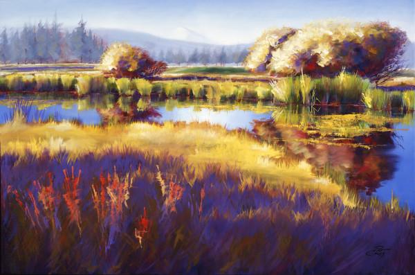 Autumn Sunriver by Pat Cross