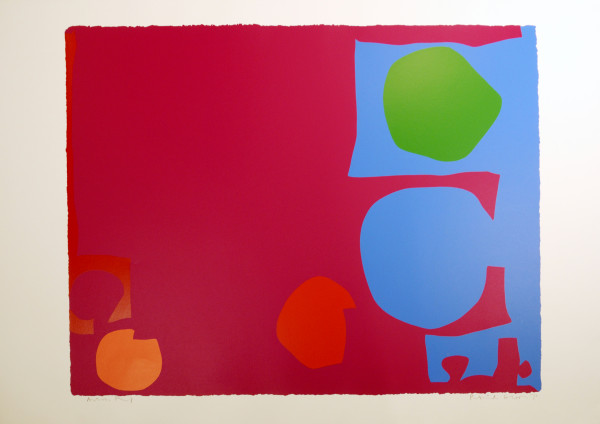 Three Reds in Magenta and Green in Blue by Patrick Heron