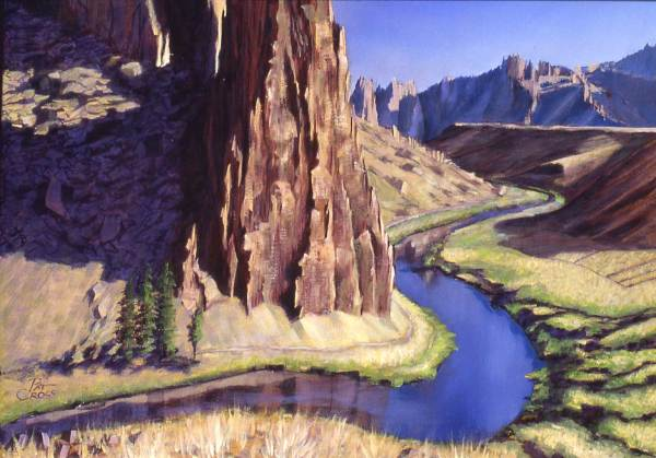 Crooked River at Smith Rocks by Pat Cross