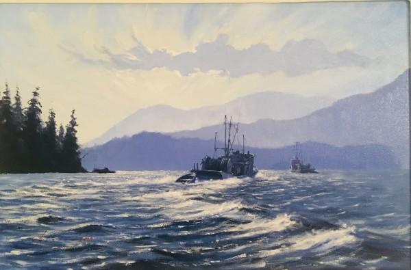Sunlight in Barclay Sound by John Horton (FCA, CSMA)