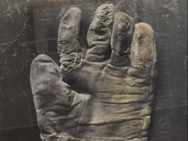 Railroad Glove on Panel, Left Hand Cloth by Michael Farrell