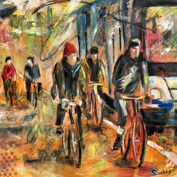 Bicycle Lane II by sharon sieben