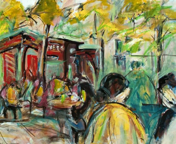 Bryant Park Rush Hour by sharon sieben