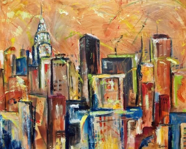 Manhattan Towers IV by sharon sieben