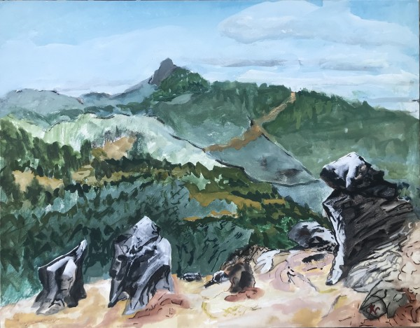 2-597- The Sentries - Soda Mt. Wilderness/View West to Pilot Rock; Hallie Ford Gallery UVAA by Katy Cauker