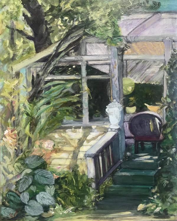 678- Porch Haven 1/ Baldessare's Italio Gardens- Rogue Gallery 2021 by Katy Cauker