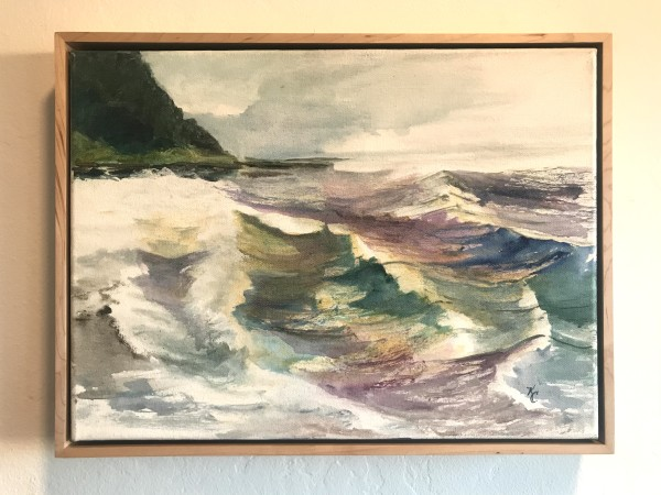 324 - Cross Current —No Swish - Swing not Sway - Yachats Waves by Katy Cauker
