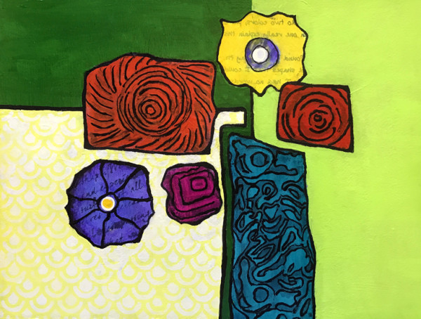 """Abstract Floral II"" by Mari O'Brien"