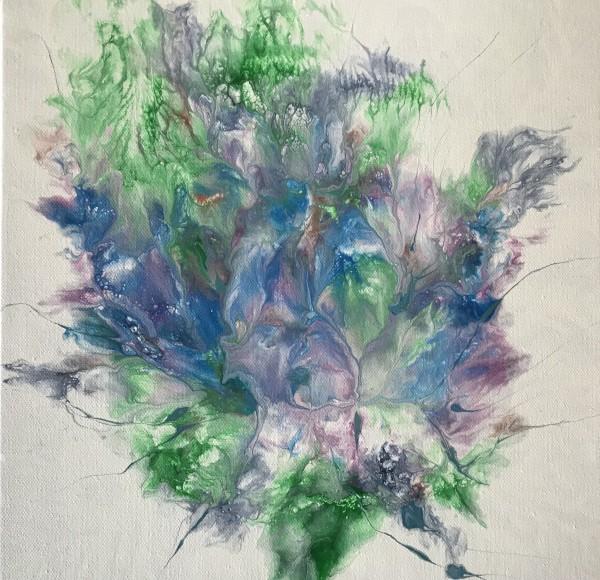 """""""Floating Ocean Flowers: One"""" by Mari O'Brien"""