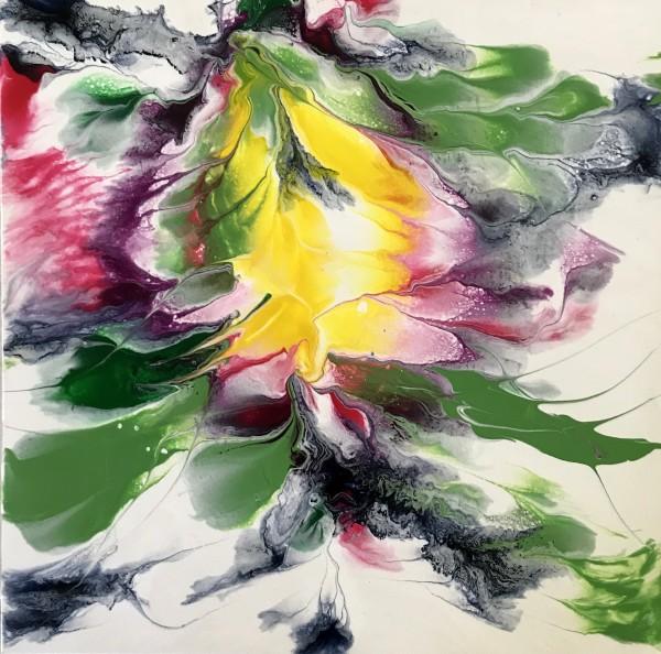"""Floating Ocean Flowers: Four by Mari O'Brien"