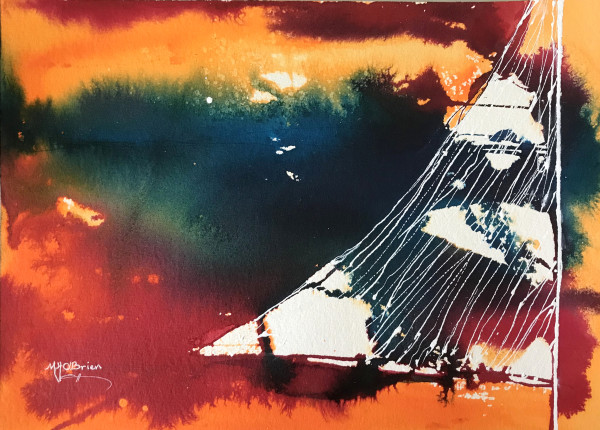 Sunset Sail by Mari O'Brien
