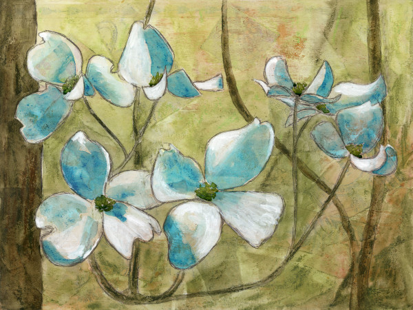 Dogwoods 1 by Jacque Thompson