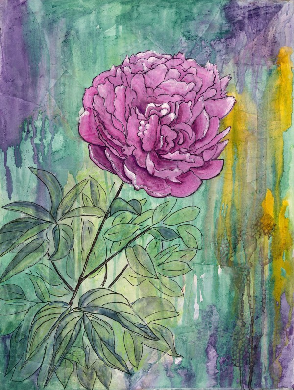 Peony Explosion 1 by Jacque Thompson