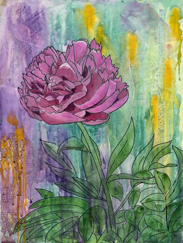 Peony Explosion 2 by Jacque Thompson