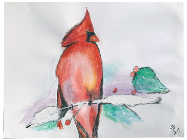 Cardinal On A Branch by Susi Schuele