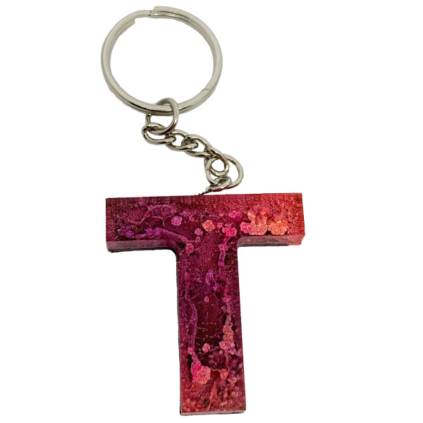 Resin Keychain - T #1 by Susi Schuele