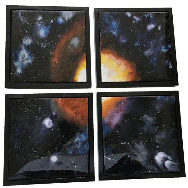 Ziggy Stardust Tetraptych by Susi Schuele