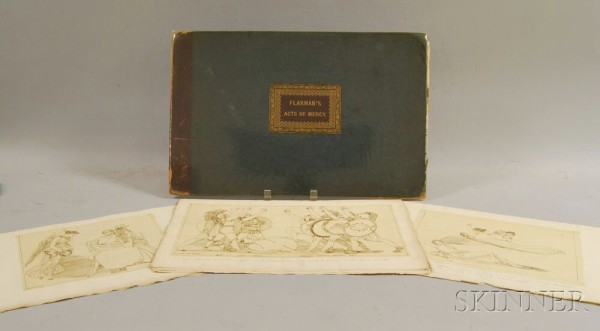 """Compositions of the """"Acts of Mercy"""" / drawn by John Flaxman; engraved by F.C. Lewis."""
